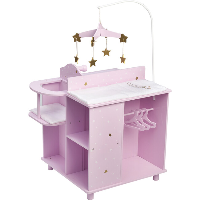 Twinkle Stars Princess Baby Doll Changing Station with Storage, Purple - Dolls - 1