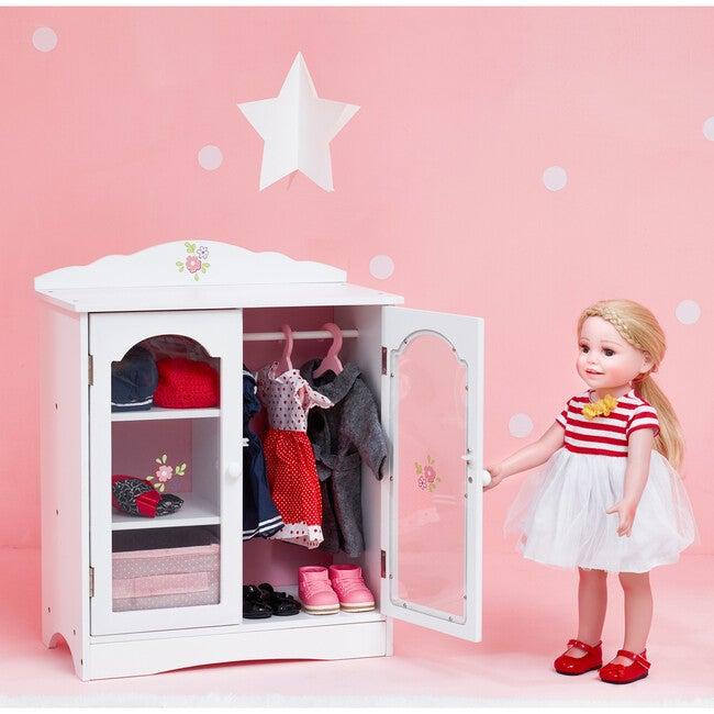 "Little Princess 18"" Doll Fancy Closet with 3 Hangers"