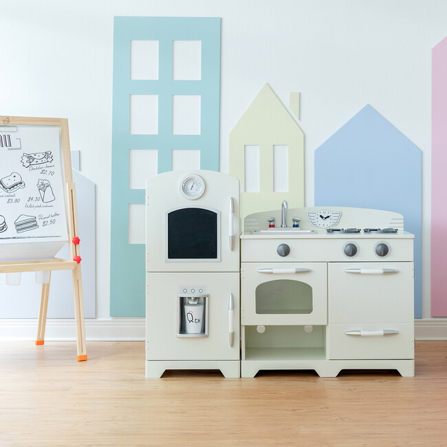 Little Chef Fairfield Retro Play Kitchen, White/Grey