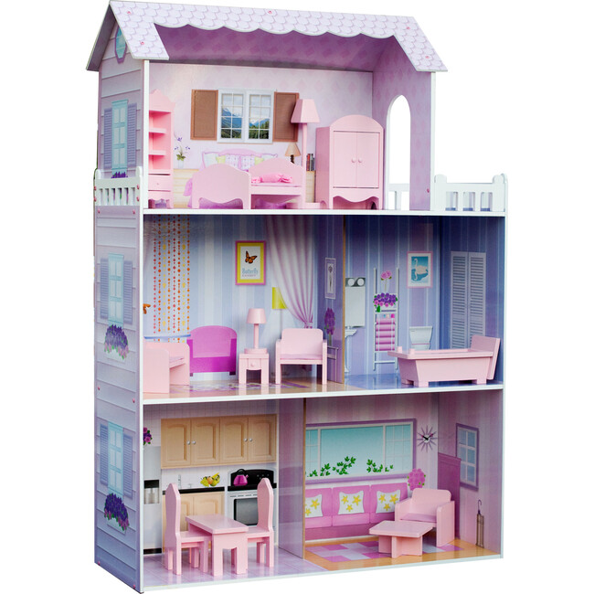 "Dreamland Tiffany 12"" Doll House, Pink"