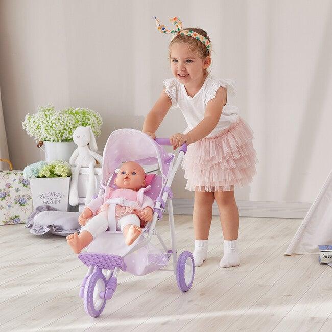 Baby Doll Jogging Stroller, Purple/Stars