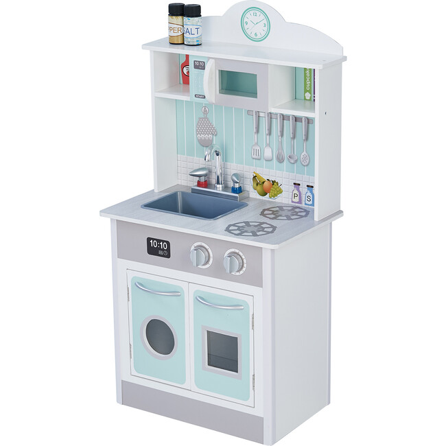 Little Chef Madrid Classic Play Kitchen, Mint/Grey