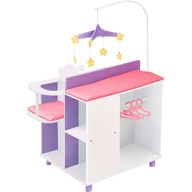 Little Princess Baby Doll Changing Station with Storage, White - Dolls - 1