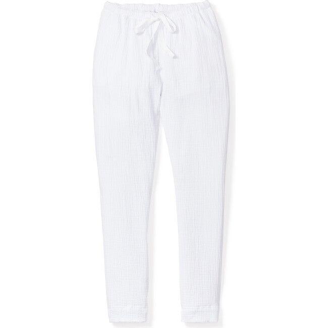 White Gauze Drawstring Pants