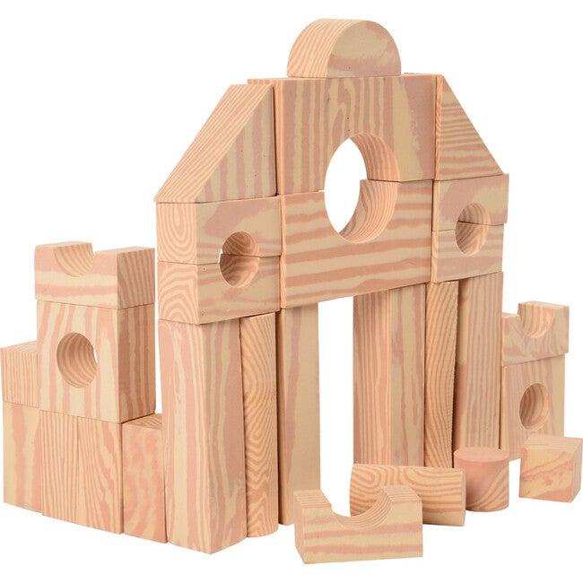 Wood-look Foam Blocks, Tan - Blocks - 1