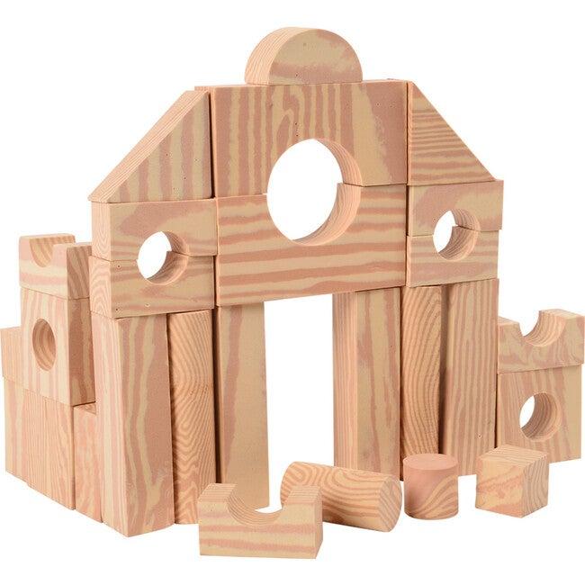 Wood-look Foam Blocks, Tan