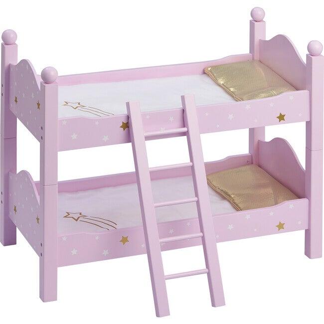 "Twinkle Stars Princess 18"" Doll Double Bunk Bed, Purple - Dolls - 1"