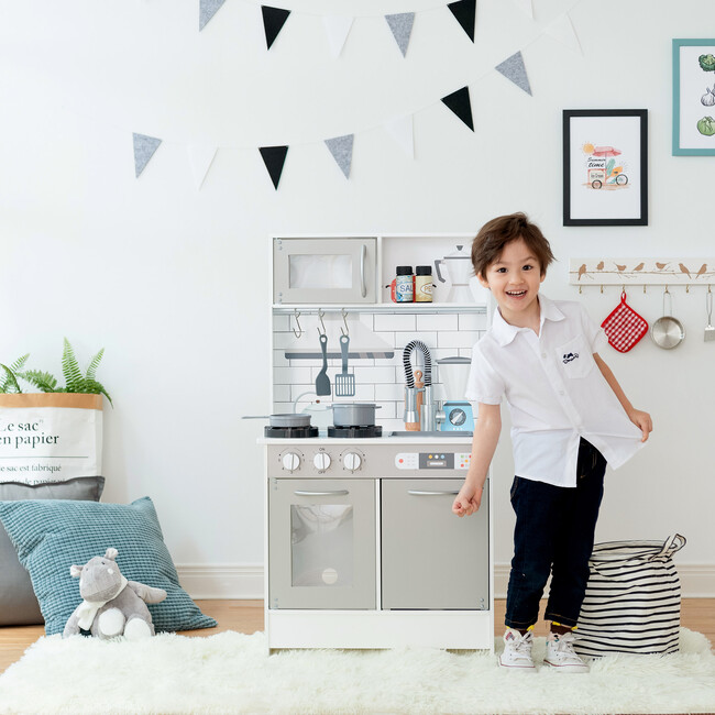 Little Chef Valencia Classic Play Kitchen, Grey