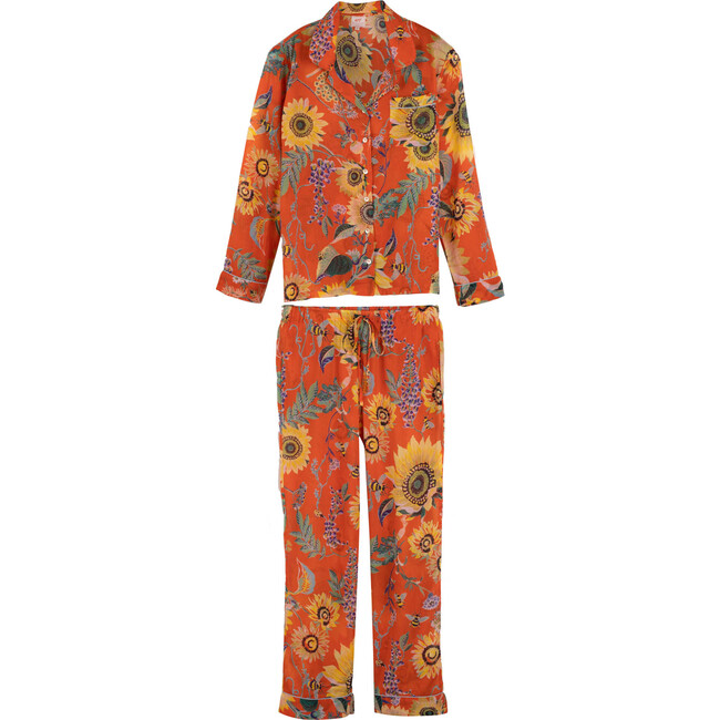 *Exclusive* Women's Moondust Pajamas, Mandarin Red