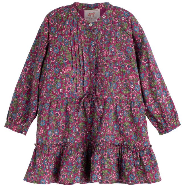 *Exclusive* Chota Bazaar Dress, Hedgehog Boysenberry