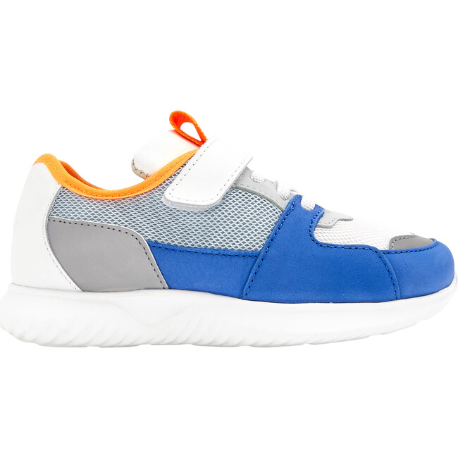 Running Style Sneakers, White & Blue - Sneakers - 1