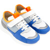 Running Style Sneakers, White & Blue - Sneakers - 2