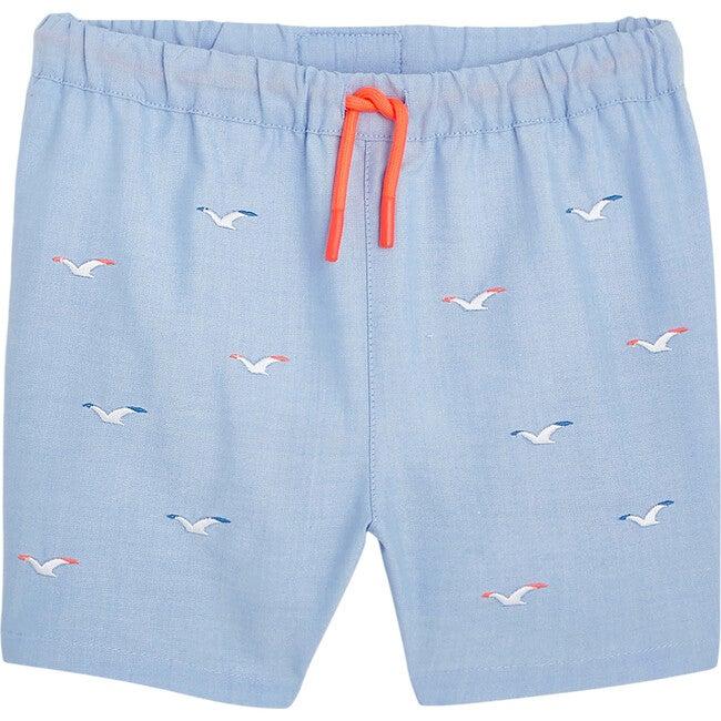 Seagulls Swim Trunks, Light Blue
