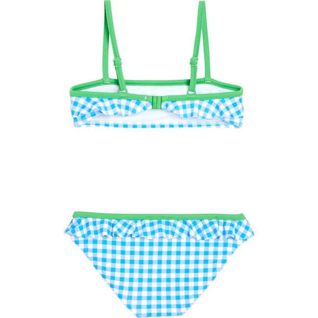 Two Piece Swimsuit, Blue Gingham