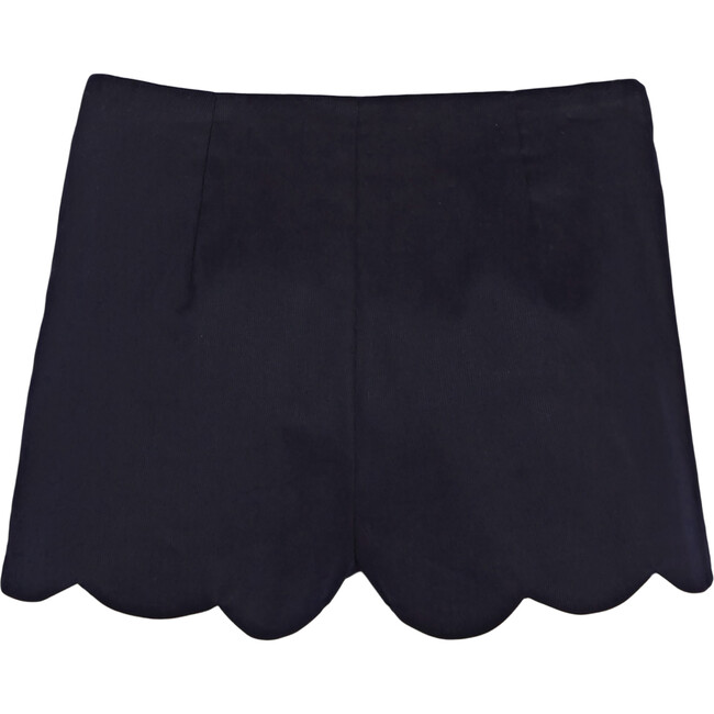 Scalloped Shorts, Navy Blue