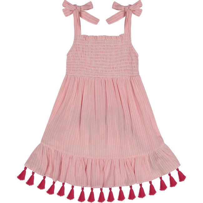 Maya Smocked Shoulder Tie Sundress,  Rose Pink