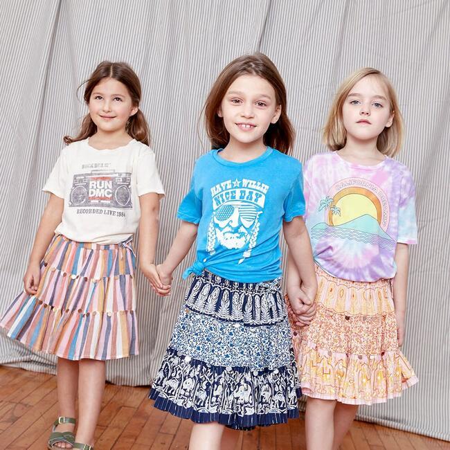 Allie Skirt, Multi Stripe