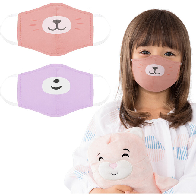 Kali the Kitty and Bori the Bear Face Masks 2 Pack