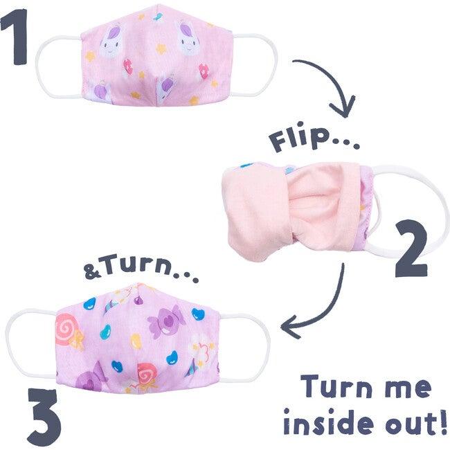 Reversible Kids Face Masks, 2-Pack
