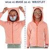 Kids Packable Wristlet Face Mask Buddies, 3 Pack - Face Masks - 8