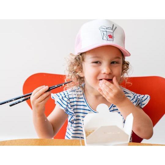 Takeout Box Kids Sun Hat, Pink