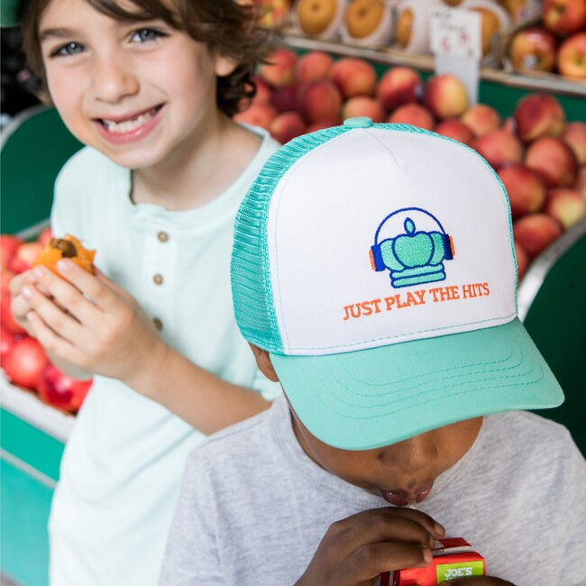 Play The Hits Sun Hat, Mint Blue