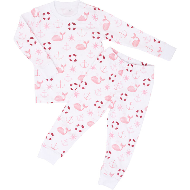 Pink Nautical Two Piece Pajama