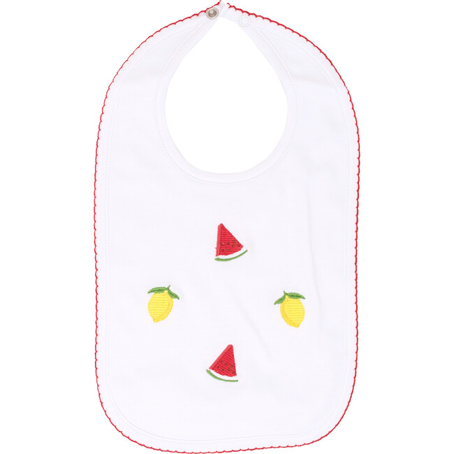 Fruit Punch Embroidered Bib