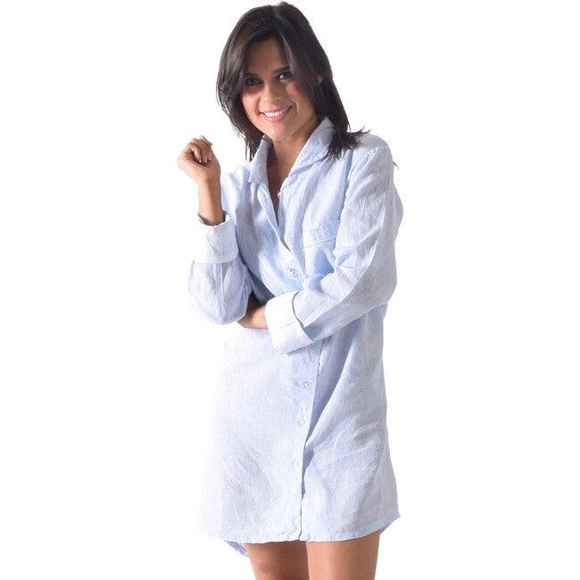 Women's Linen Night Shirt, Bora Bora