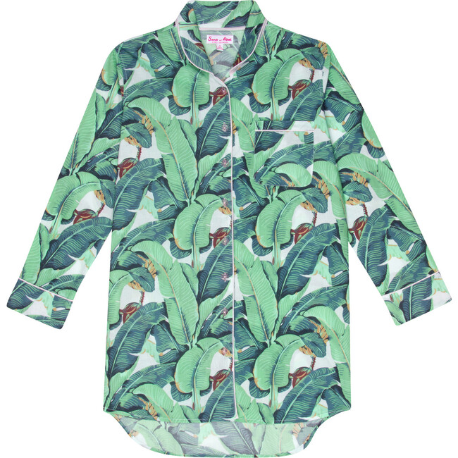 Women's Night Shirt, Martinique Banana Leaf