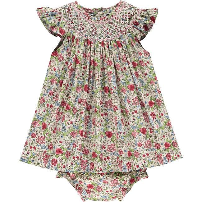Raglan Baby Dress, Fleur