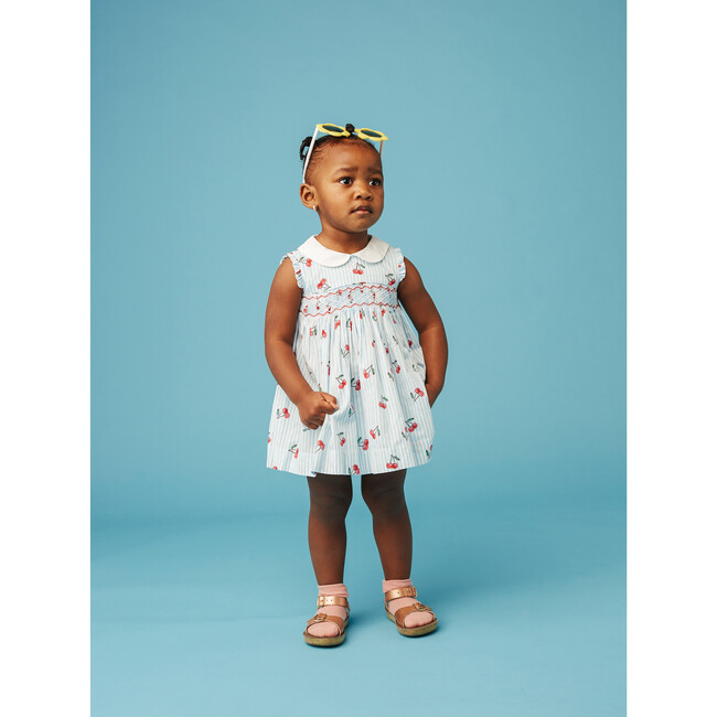 Sleeveless Baby Dress, Cerise