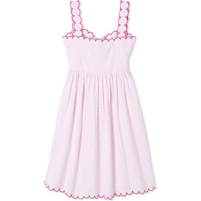 Quinn Dress, Pink Searsucker