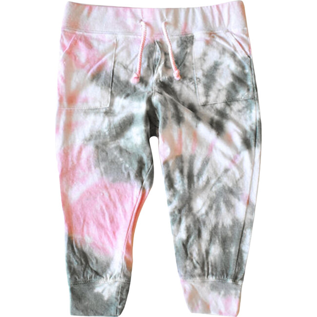 Tie Dye Joggers, Pink & Olive