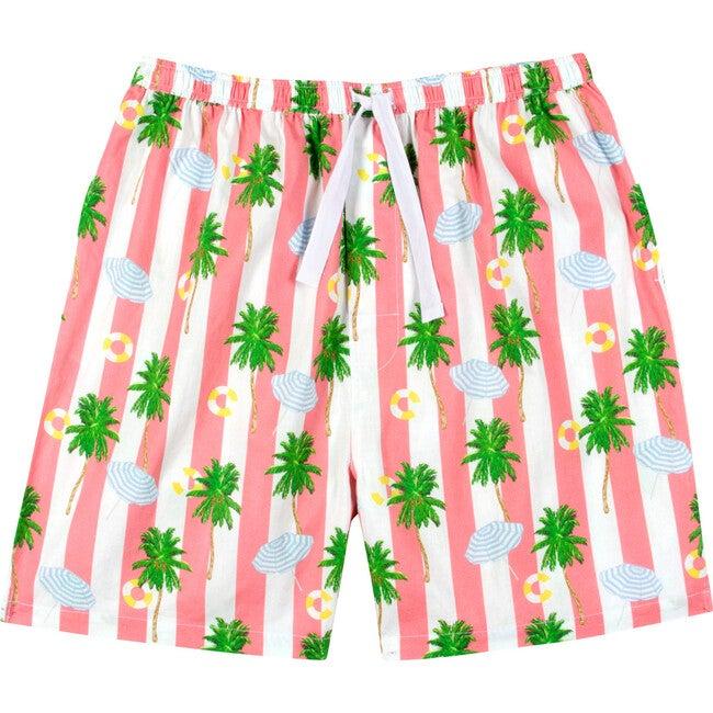 x Gray Malin Men's Sleep Shorts, Beach Coral
