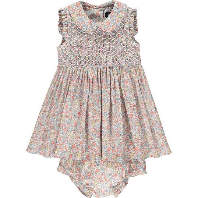 Liberty Sleeveless Baby Dress, Coast