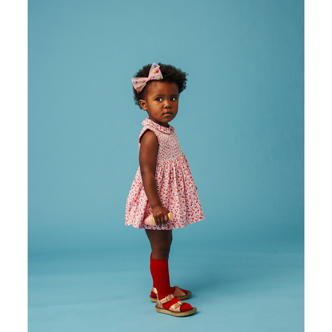 Classic Sleeveless Baby Dress, Marigold