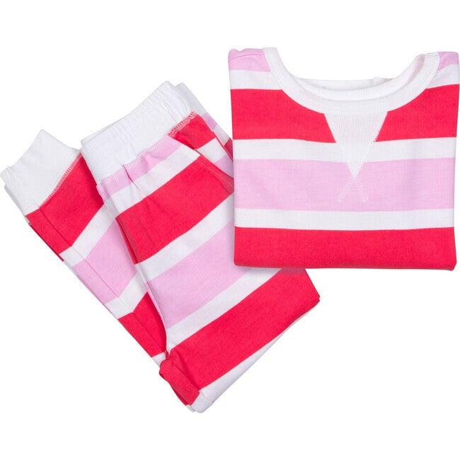 Kids Long Sleeve & Pant Snug Fit Set, Poppy Knit