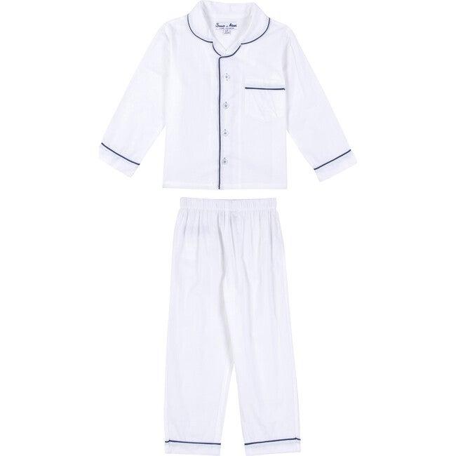 Boys Long Sleeve & Pant Set, White