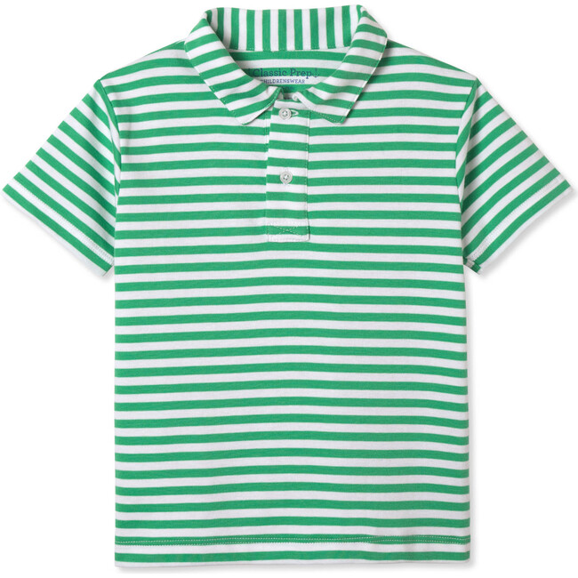 Henry Short Sleeve Polo, Blarney and White