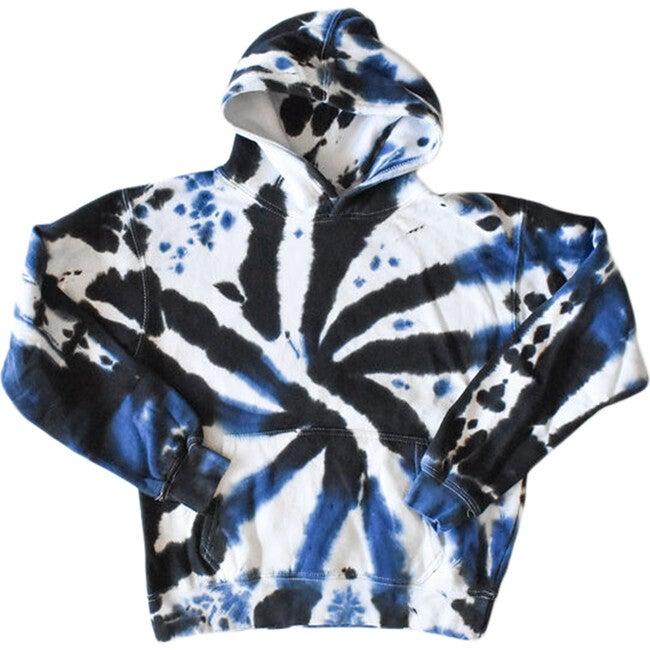Adult Tie Dye Hoodie, Black & Navy