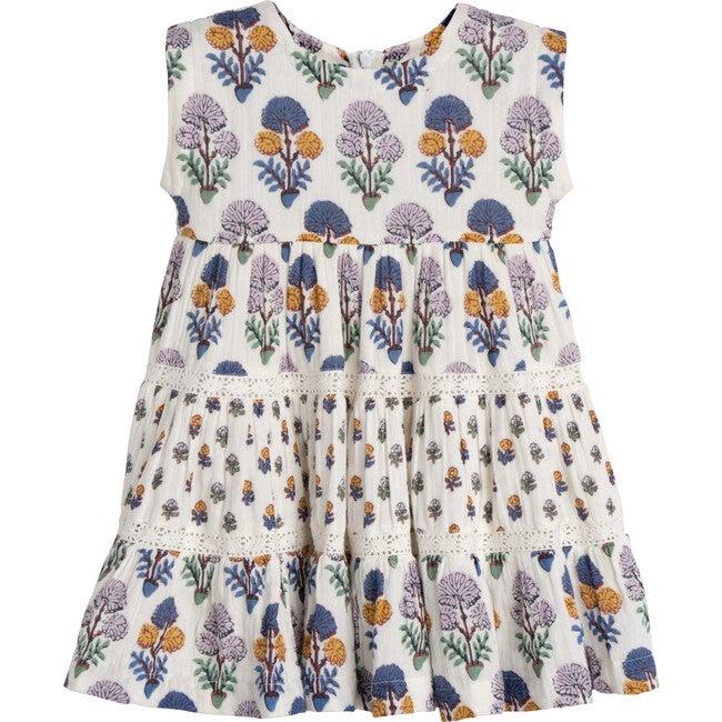 Peachy Dress, Multi Medallion Floral