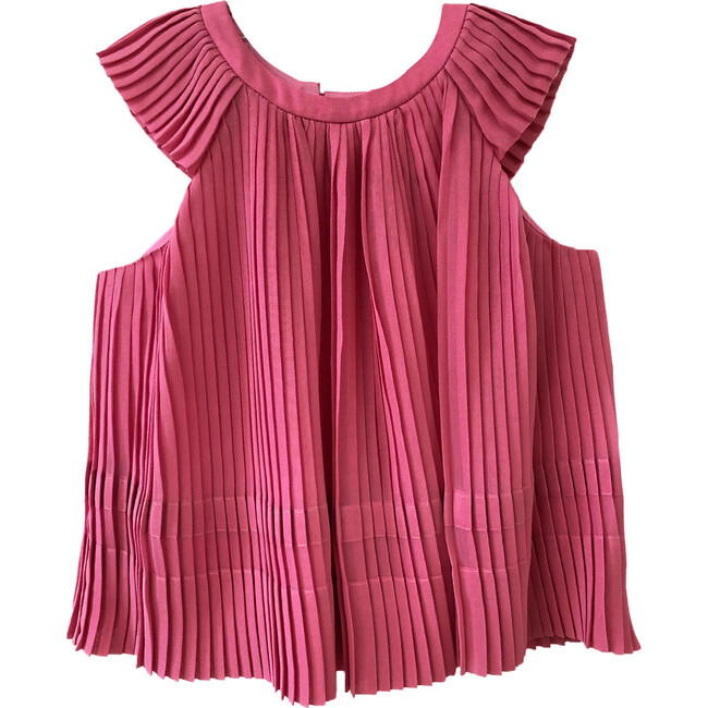 Maryam Pleated Top, Azalia Pink
