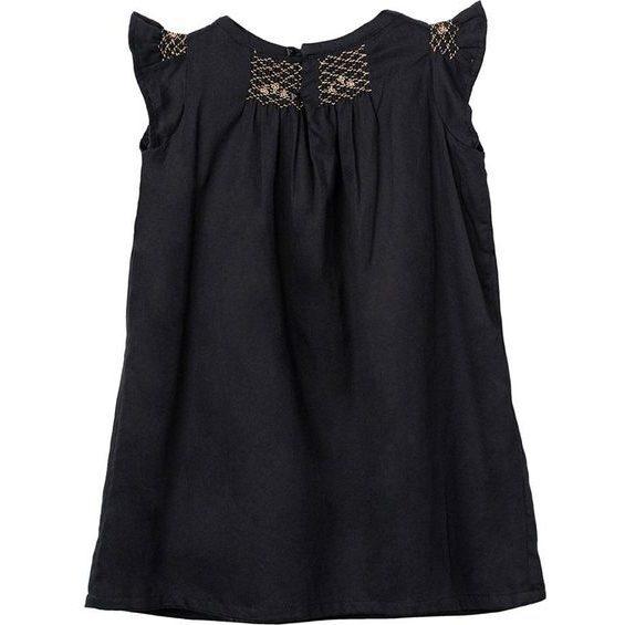 Hana Smocked Dress - Black