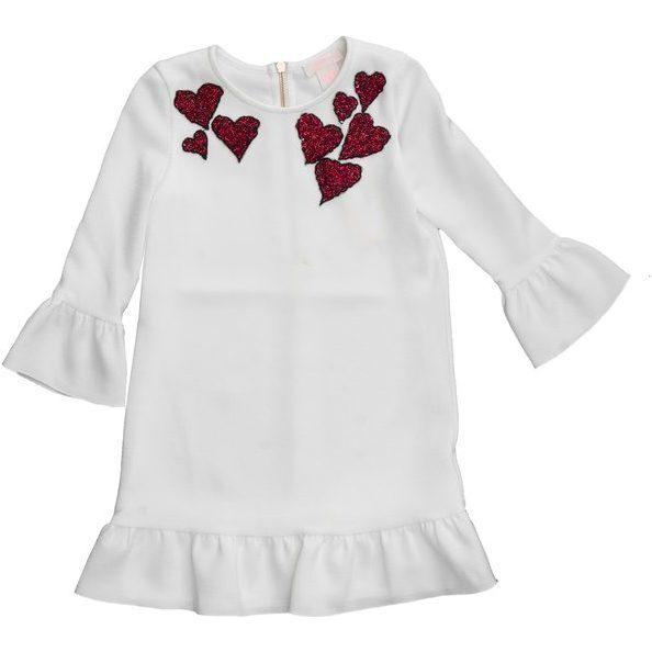 Naya Heart Dress, Winter White