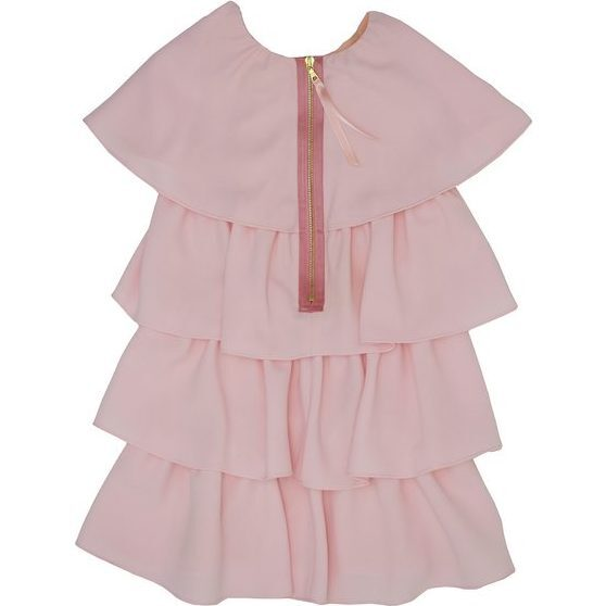 Naya Ruffle Dress, Pale Blush