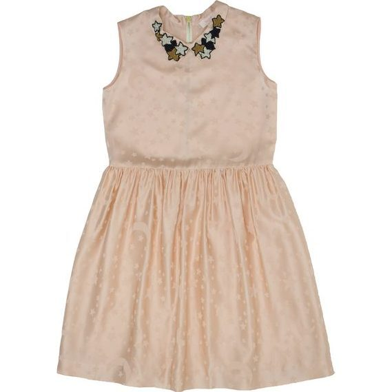 Najma Patch Collar Dress, Pale Blush