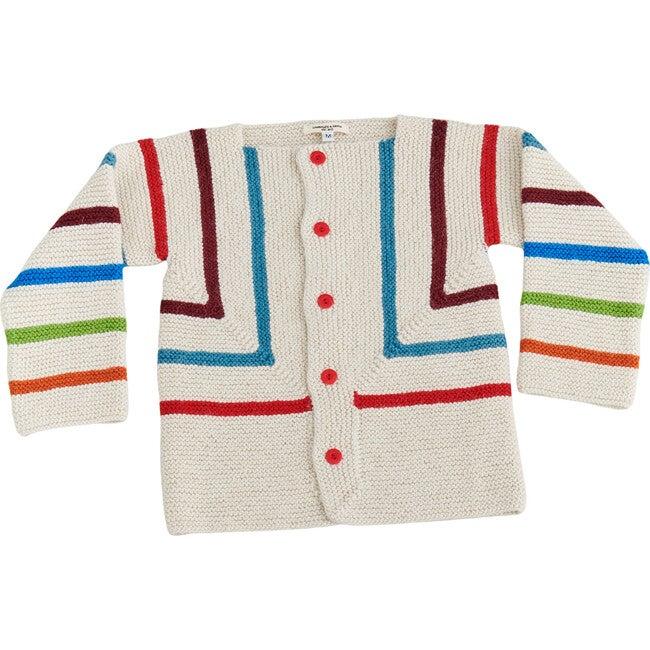 Rainbow Striped Cardigan