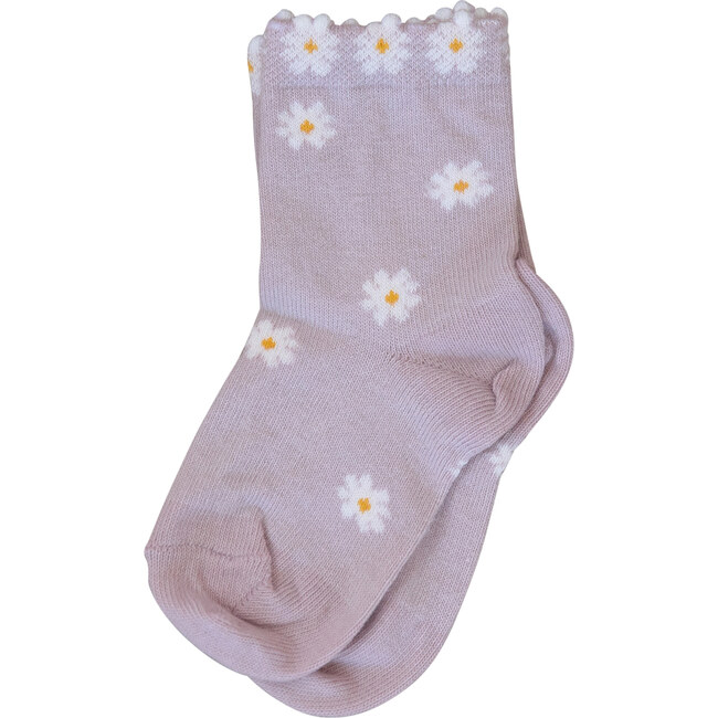 Coco Ankle Sock, Purple Daisies