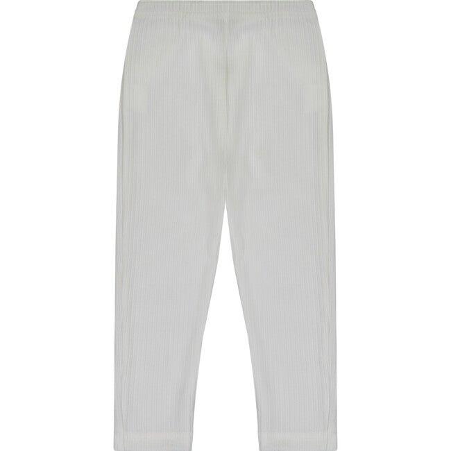 Ribbed Knit Leggings, Cream